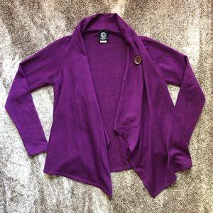 Purple Wrap Cardigan